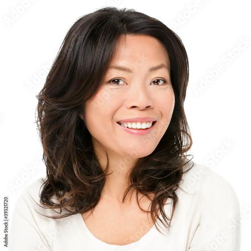 Foto  Asiatinlächeln glücklich