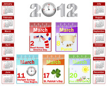 Calendar For 2012.