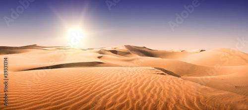 Photo Gold desert.