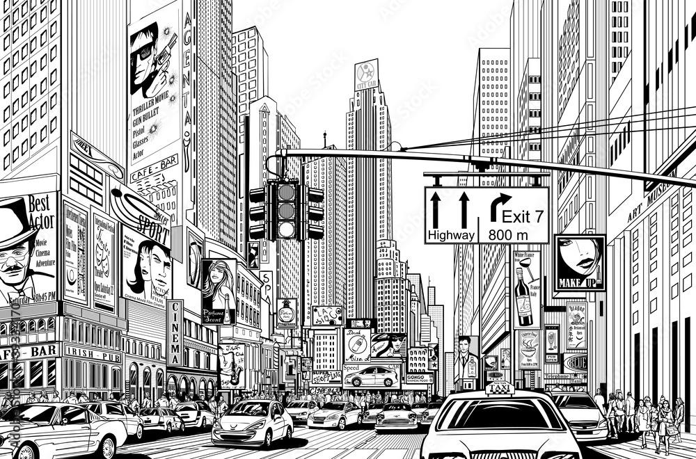 Fototapeta street in New York city