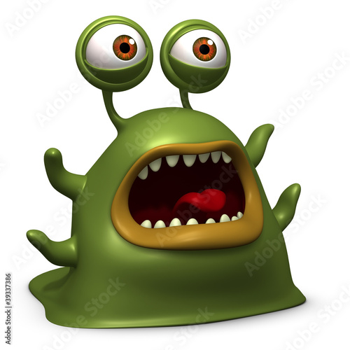 Keuken foto achterwand Sweet Monsters slug