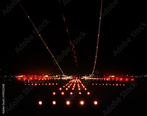 Foto op Aluminium Luchthaven Night Airport