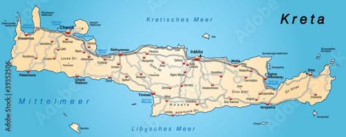 Landkarte Von Kreta In Orange Buy This Stock Vector And Explore