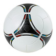 canvas print picture - Stylish football - soccer ball on white background