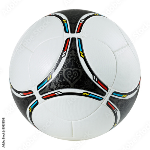 Photo  Stylish football - soccer ball on white background