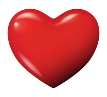 Perfect Red Heart Vector Isola...