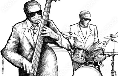 Staande foto Muziekband jazz band