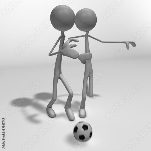 Photo  soccer duel 3