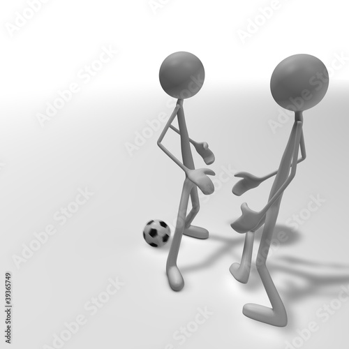 Photo  soccer duel 2
