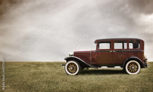 Foto op Canvas Oude auto s Retro car.