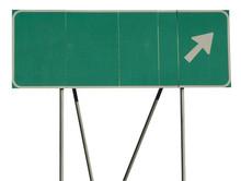 Green Road Sign Empty