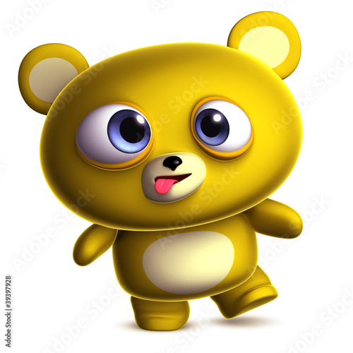 Poster de jardin Doux monstres crazy bear