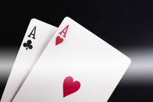Pair Of Aces On Black