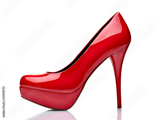 Fotografia  red high heel shoes