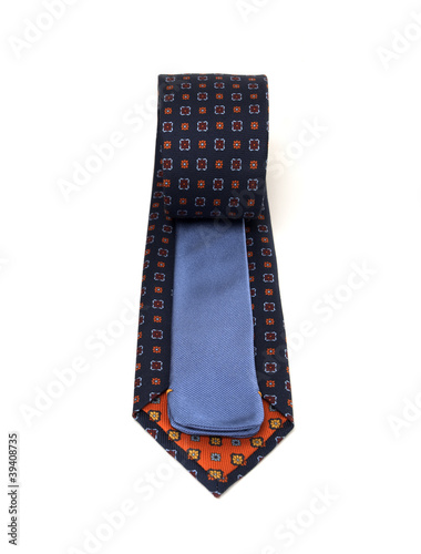 Valokuva  2 Sided Flower Patterned Navy and Blue Necktie