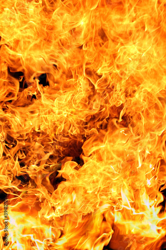 Fotografie, Obraz  Fire flames background texture