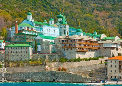 Fotografie, Obraz  Monastery of Agios Panteleimon (Russian) on Athos Greece