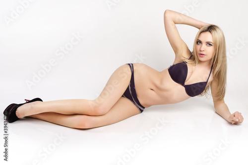 Fototapeta Beautiful and sexy woman wearing lingerie. obraz na płótnie