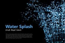 Falling Water Drops Splash