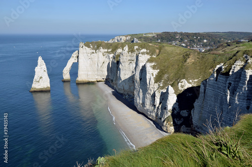 Photo Famous cliffs of Etretat in France