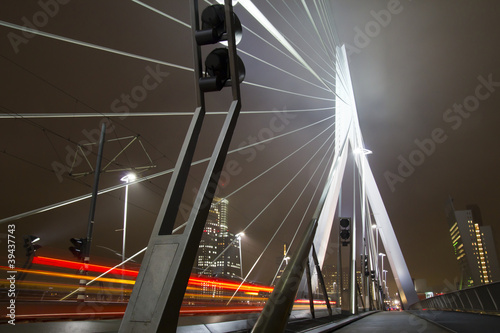 Foto op Canvas Rotterdam Urban scenery at night