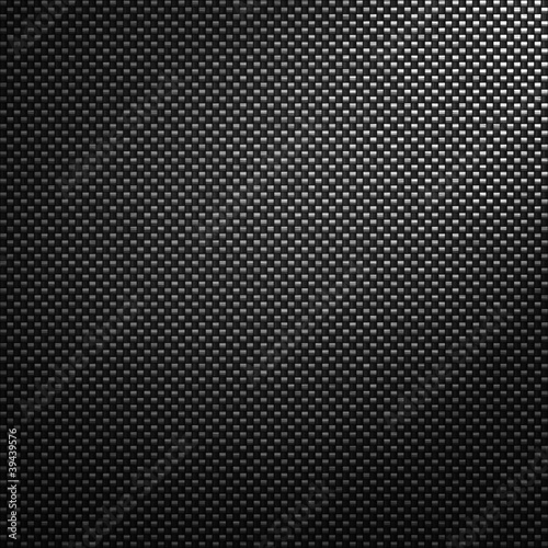 Poster Metal Grey carbon fiber background or texture