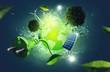 Leinwandbild Motiv Green Energy