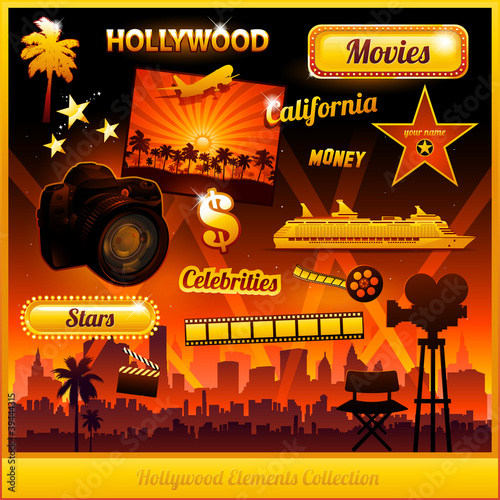 Photo  Hollywood cinema movie elements collection