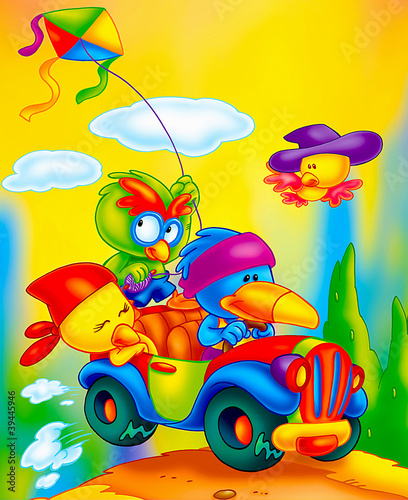 Foto op Canvas Cars funny animals