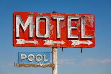 Vintage, Neon Motel Sign