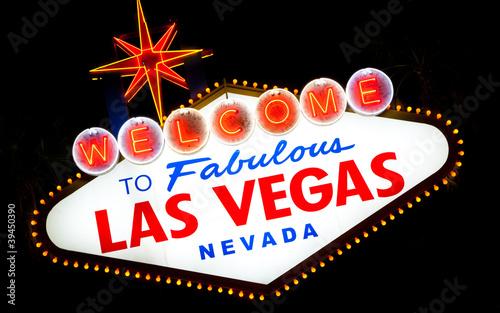 Poster Las Vegas Las Vegas Sign a night