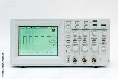 Fotografie, Obraz  Digital oscilloscope with square wave on the screen