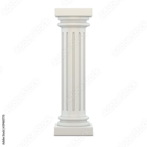 Classic Column 3d render illustration Fototapeta