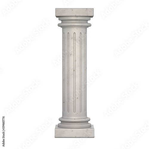 Vászonkép Classic Column 3d render illustration