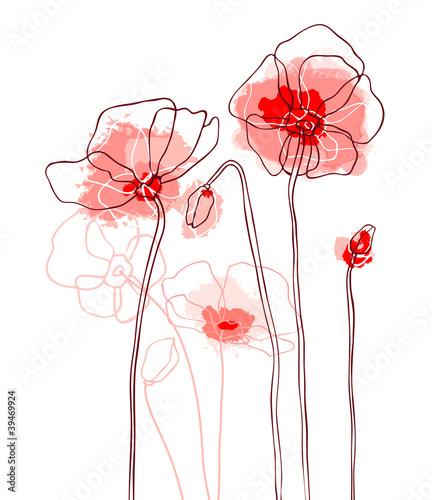 czerwoni-maczki-na-bialym-tle-wektor-illustrati