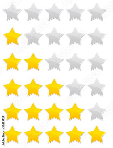 évaluation - vote - avis - note - étoiles Canvas Print