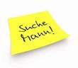 canvas print picture - Notizzettel - Suche Mann!
