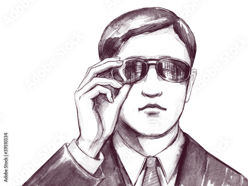 man with sun glasses