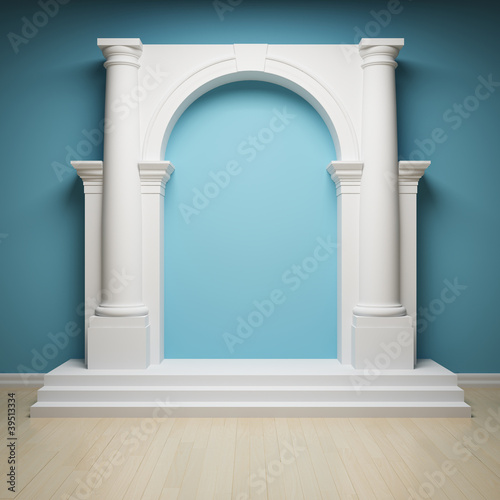 Сolumns with archway Canvas Print