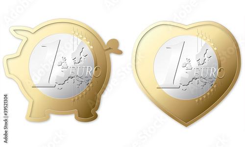 Fototapeta Euro signs 1 obraz