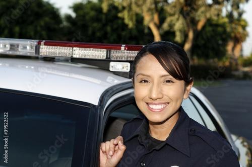 Police Officer Billede på lærred