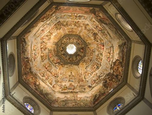 Fotografie, Obraz  The Florence Duomo Ceiling