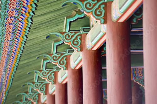 Photo  Korean old buildings ,column detailed.