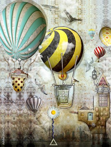 Poster Imagination Balloon race