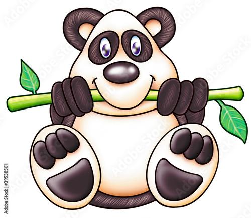 Wall Murals Bears cute panda