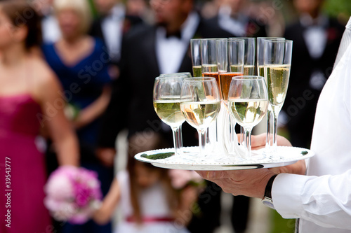 Fotografie, Obraz  beverages being served by a waiter