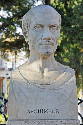 Photo Rome Archimedes statue at Borghese villa