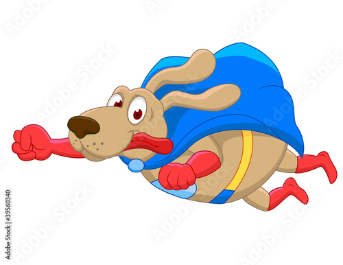 Fotografie, Tablou  Superdog cartoon