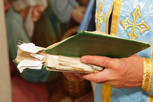 Bible In Hands Of Holy Father ...