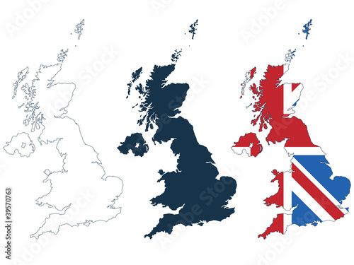 Photo  great britain map